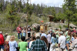 Gathering at Shadowcliff's Bob Mann & Judith Christy Laws of Nature Interpretive Trail
