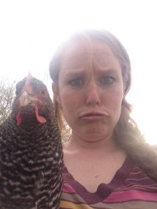 Me with a chicken